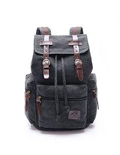 DAYAN Hommes Femmes Vintage toile sac à dos robuste Retro école backpack pour Sports de plein air Voyage couleur Noir DAYAN http://www.amazon.fr/dp/B00XVTD9BO/ref=cm_sw_r_pi_dp_L4k.vb0V37PZH