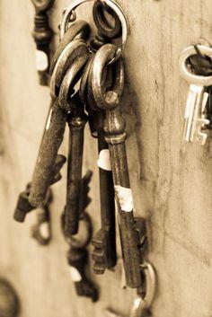 Paris Photography - Antique Keys in Paris, France - Fine Art 8x10 Photograph- affordable home decor. $30.00, via Etsy.