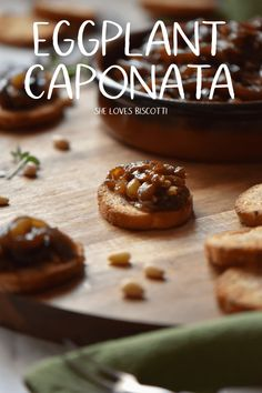 Eggplant Caponata is so easy to make and is just perfect for your appetizer board. #caponata #eggplantcaponata #eggplant #easyappetizer  via @Loves_biscotti
