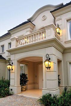 Mediterranean homes, modern villa design, exterior design, exterior house c Classic House Exterior, Classic House Design, Modern Exterior House Designs, Rustic Exterior, Rustic Home Design, Dream House Exterior, Modern House Design, Exterior Design, House Outside Design
