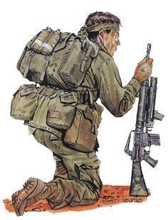 """Patrol 2ic, ASAS"" - pin by Paolo Marzioli Military Love, Military Art, Military History, Military Uniforms, Royal Marines, Us Marines, Vietnam History, Vietnam War, Soldier Drawing"