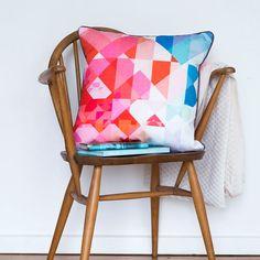 Segmented Cushion Digitally Printed Cushion Cover by SqueakDesign $60