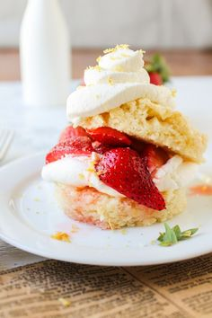 Strawberry Lemon Shortcake #recipe