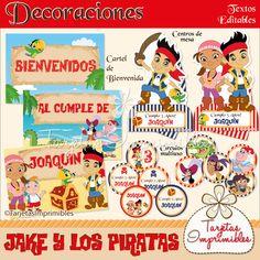 Kit de decoraciones Jake y los piratas nene