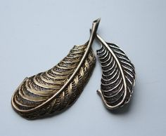 Topazio Brooch set. Sterling Silver. Filigree. by StacyTreasure