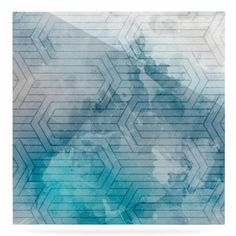 "East Urban Home 'Frost Labyrinth' Graphic Art Print on Metal Size: 10"" H x 10"" W x 1"" D"
