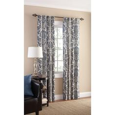 Mainstays Selma Crushed Microfiber Curtain Panel, Set of 2 - Walmart.com
