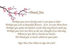 Funeral thank you card ideas google search funeral pinterest funeral thank you notes altavistaventures Images