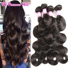 Queen Hair Products Peruvian Body Wave 4 Bundles Unprocessed 7A Peruvian Virgin Hair Body Wave Cheap 100G Human Hair Bundles 1B