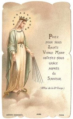 Virgin Mary Antique French Holy Prayer Card by VintagePaperAttic, $6,99