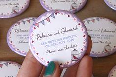 RETRO BUNTING design - Save the Date Magnets https://www.etsy.com/uk/shop/WeddingSavetheDates