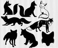 Fox SVG Bundle Fox cut files Fox silhouette svg foxes svg