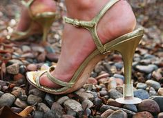 High heel protection at garden parties and weddings.