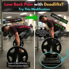"""250 Likes, 9 Comments - Adam McCluskey SPT, CES, CPT (@theptinitiative) on Instagram: """"Deadlift Pain Free By Using This Easy Modification... for those with poor hip mobility! ---…"""""""
