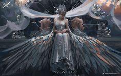 66 ideas digital art fantasy girl queens beautiful for 2019 Fantasy Girl, Chica Fantasy, 3d Fantasy, Fantasy Kunst, Dark Fantasy, Fantasy Dress, Fantasy Artwork, 8k Wallpaper, Wings Wallpaper