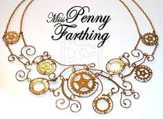 Steampunk Cogs Collar Necklace by MissPennyFarthing