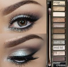 Makeup with Urban Decay Naked 2 palette