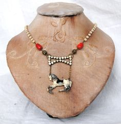 Horse Necklace by LaCapraCanta on Etsy