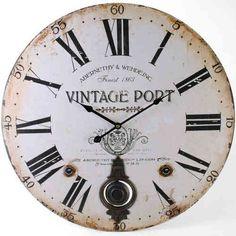 Large Wall Clock Big Vintage Port Pendulum