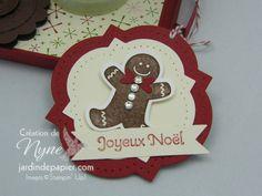Christmas tag. Étiquette de Noël. Stampin'UP www.jardindepapier.com