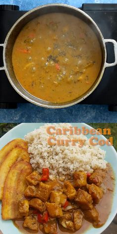 Calling all seafood lovers!! You must try this Curry cod with it's combination of Indian flavours with a Caribbean flare. Chunky pieces of meaty cod, marinated and simmer down in coconut. A super tasty meal, gluten and dairy free too!! Vegetarian Recipes Easy, Dairy Free Recipes, Healthy Recipes, Jamaican Recipes, Curry Recipes, Healthy Cooking, Healthy Eating, Cooking Recipes, Chicken Skillet Recipes