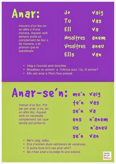 Anar o anar-se'n? Catalan Language, National Language, World Languages, Preschool Education, Valencia, Grammar, Study, Classroom, Teaching