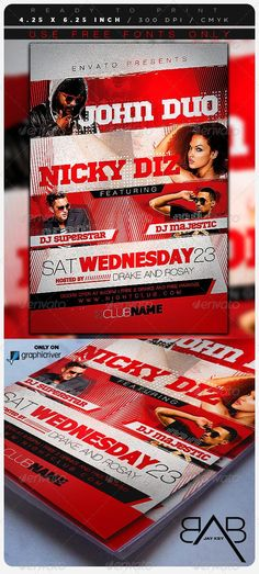 Buy Music Event Party Flyer by on GraphicRiver. Super easy to edit, all well organized in folders with names, you can easily change Texts, Colors, Add/Remove object.