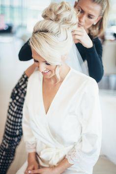 Getting wedding ready Wedding Bun Hairstyles, 2015 Hairstyles, Fancy Hairstyles, Wedding Hair And Makeup, Wedding Beauty, Hair Makeup, I Like Your Hair, Bridal Hair Inspiration, Gorgeous Blonde
