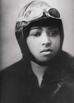 Portrait of Bessie Coleman, the first African-American pilot, 15 June 1921.  Source: National Air and Space Museum