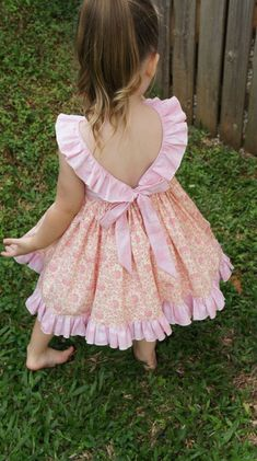 The Adele Ruffle Dress pdf sewing pattern Size 1 to 5