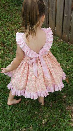 The Adele Ruffle Dress pdf sewing pattern Size 1 to 5