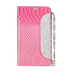 Roze glitter & glamour flip cover hoesje met fish scale voor Samsung Galaxy Note 3 - PhoneGeek.nl