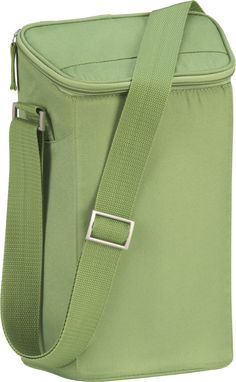 Insulated Green Double Wine Bag in Garden, Patio | Crate and Barrel