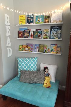 Creating a Reading Nook Glitter On A Dime Kids Bedroom Ideas Creating Dime Glit. Creating a Reading Nook Glitter On A Dime Kids Bedroom. Playroom Organization, Playroom Decor, Playroom Design, Playroom Shelves, Organization Ideas, Reading Nook Kids, Classroom Reading Nook, Childrens Reading Corner, Romantic Bedroom Decor