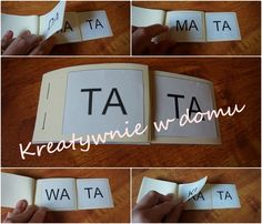 Czytanie sylabowe na różne sposoby | Kreatywnie w domu Baby Yoga, Syllable, Kids And Parenting, Kids Learning, Art For Kids, Therapy, Place Card Holders, Teaching, Writing