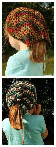 Crochet Head Huggers Hat Free Pattern - several links for patterns b85e8be36102