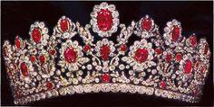 the duchess of angouiemis emerald tiara   The St. Andrew Knot - The Duchess of Angoulême Ruby and Diamond Tiara ...