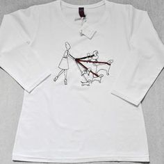 T-Shirt 3/4 Donna Dog Walker by Tuo tua