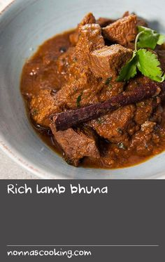 """Rich lamb bhuna 