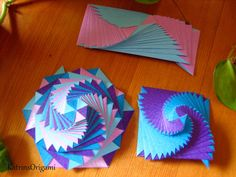 Origami, the art of paper folding: Playing with ི ♥ ྀ Curlicue ི ♥ ྀ