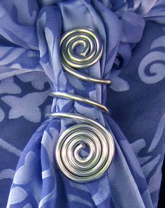 Jazzy Aluminum Spiral Hand crafted Scarf Ring by ColoryourCause, $10.00