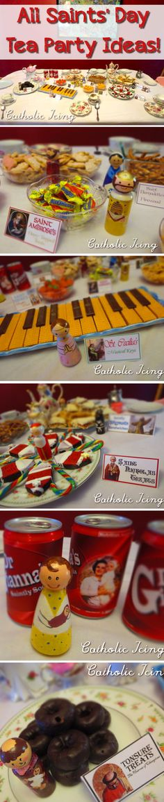All Saints' Day tea party- simple to throw! Lots of easy food ideas here. :-)