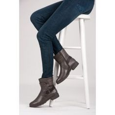 Šedé workery H355G / S3-46P Boots, Heels, Fashion, Crotch Boots, Heel, Moda, Fashion Styles, Shoe Boot, High Heel