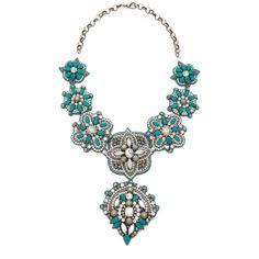 Deepa Gurnani Embellished Pendant Necklace ($188) ❤ liked on Polyvore