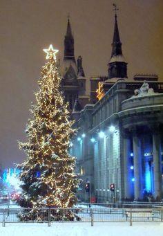 Christmas in Aberdeen, Scotland, UK