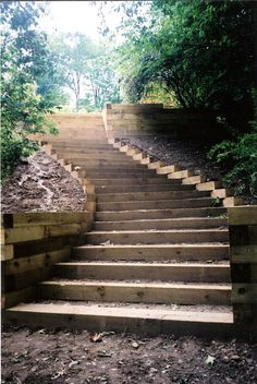 Railroad Ties Curved Staircase | Explore Mast Construction C… | Flickr - Photo Sharing!