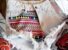 Aztec Pattern On One Side Shorts