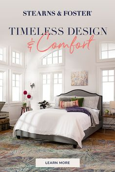 Every Stearns & Foster is handcrafted with only the finest materials, for a mattress that looks as amazing as it feels. Dream Bedroom, Home Bedroom, Bedroom Decor, Master Bedroom, Wood Bedroom Sets, Bedroom Furniture, Construction Bedroom, King Storage Bed, Beautiful Bedrooms