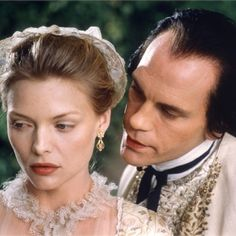 "Michelle Pfeiffer with John Malkovich in ""Dangerous Liaisons"" (1988)"