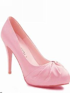 Pink Suede High Heel Shoes $28.50